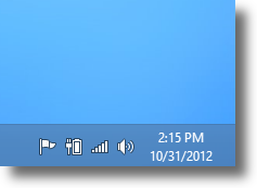 Windows 8 Network icon on taskbar