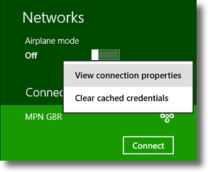 Windows 8 View VPN Connection