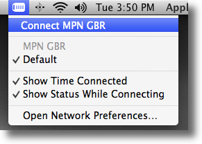 Apple OSX connect to L2TP VPN