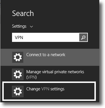 Select the menu to change your VPN settings