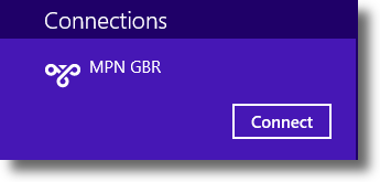 Windows 8.1 Select VPN Connection