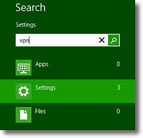 Windows 8 Search Settings