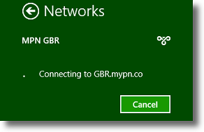 Windows 8 VPN is now connecting