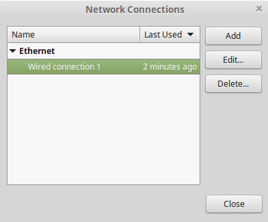linux mint create a VPN connection type