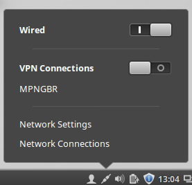 linux mint connect to PPTP VPN