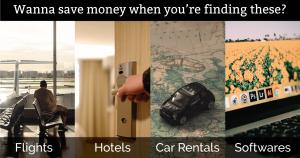 Cheaper Flights, Hotels, Car Rentals and Softwares Online